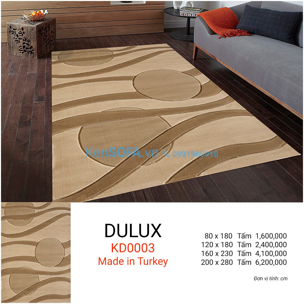 Thảm sofa cao cấp DULUX KD0003