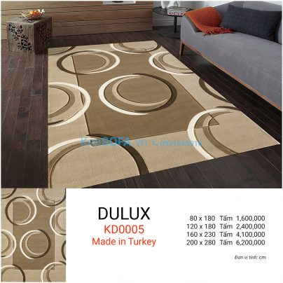 Thảm sofa cao cấp DULUX KD0005