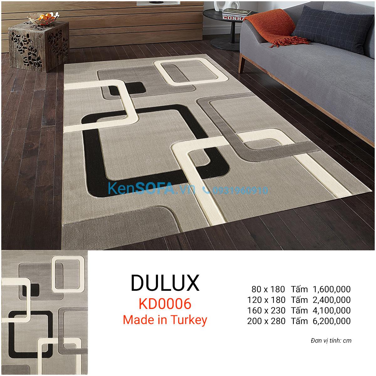 Thảm sofa cao cấp DULUX KD0006