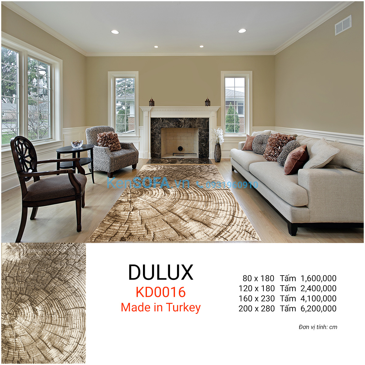 Thảm sofa cao cấp DULUX KD0016