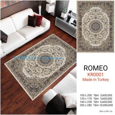 Thảm sofa cao cấp ROMEO KR0001