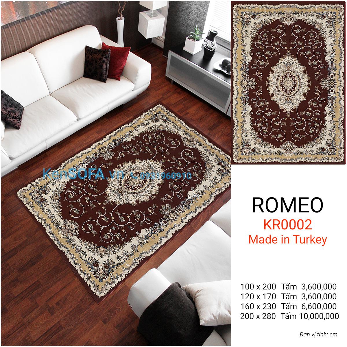 Thảm sofa cao cấp ROMEO KR0002
