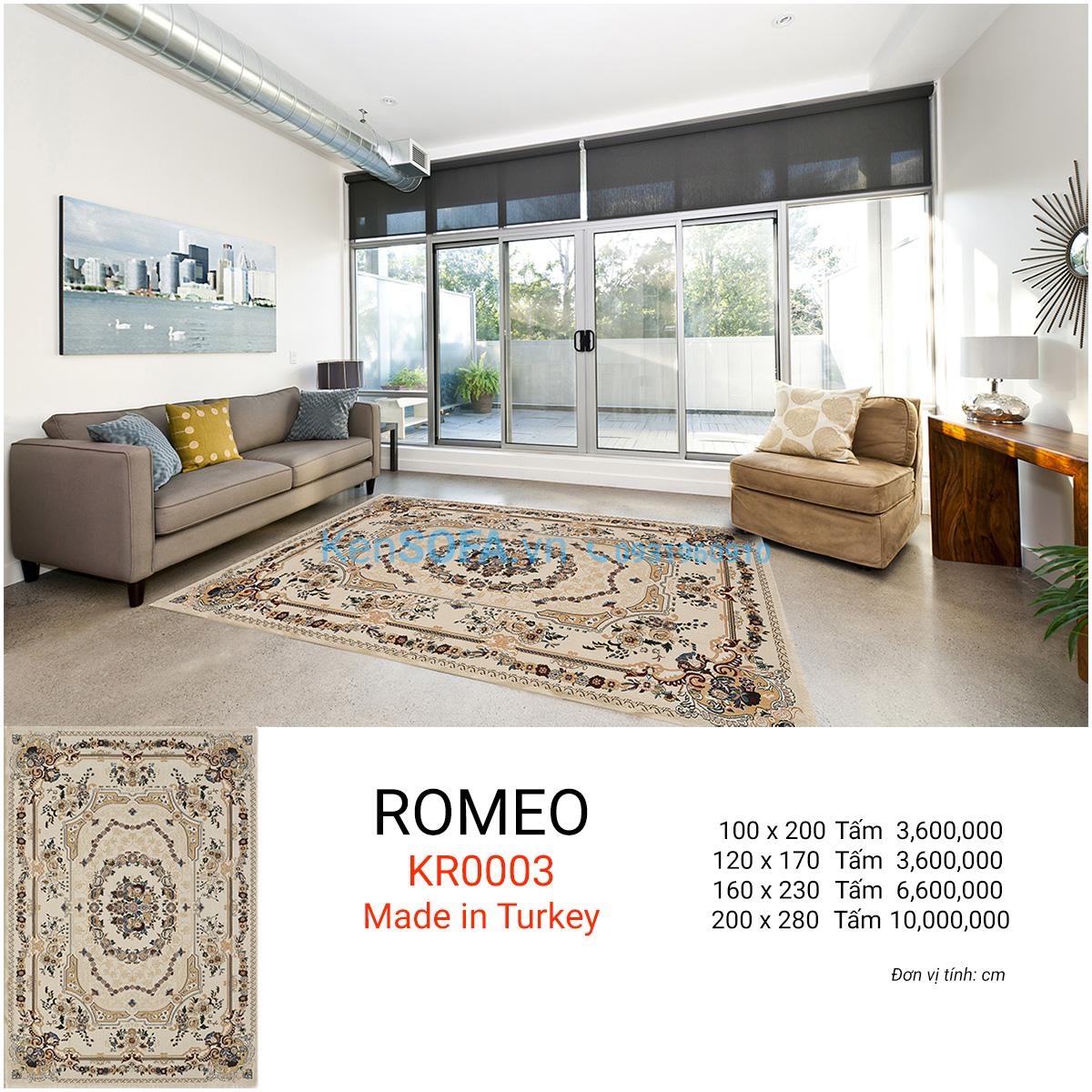 Thảm sofa cao cấp ROMEO KR0003