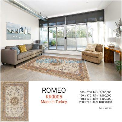 Thảm sofa cao cấp ROMEO KR0005