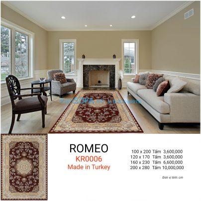 Thảm sofa cao cấp ROMEO KR0006