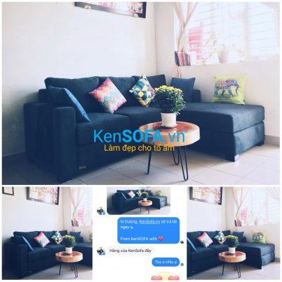 Bàn sofa T19 Memphis mặt gỗ xà cừ