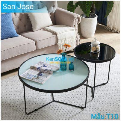 Bàn sofa T10 San Jose mặt kiếng