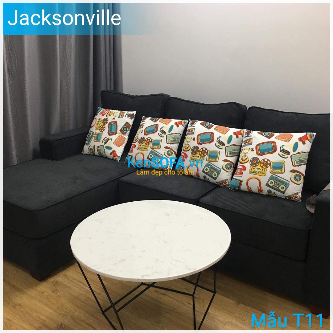 Bàn sofa T11D Jacksonville mặt đá