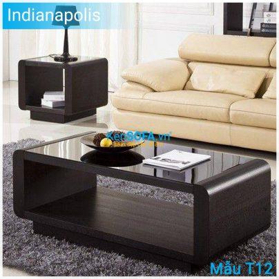 Bàn sofa T12 Indianapolis mặt kiếng