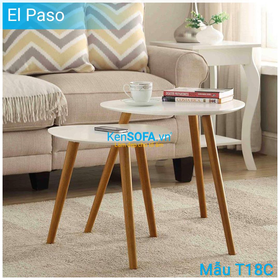 Bàn sofa T18C El Paso cặp bàn gỗ
