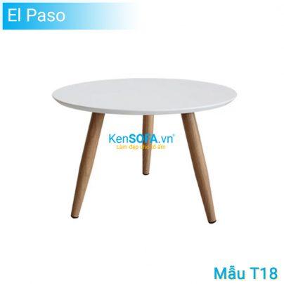Bàn sofa T18 El Paso mặt gỗ