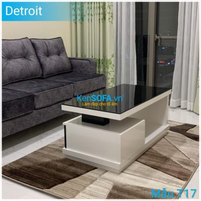 Bàn sofa T17 Detroit mặt kiếng
