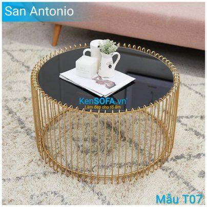 Bàn sofa T07 San Antonio mặt kiếng