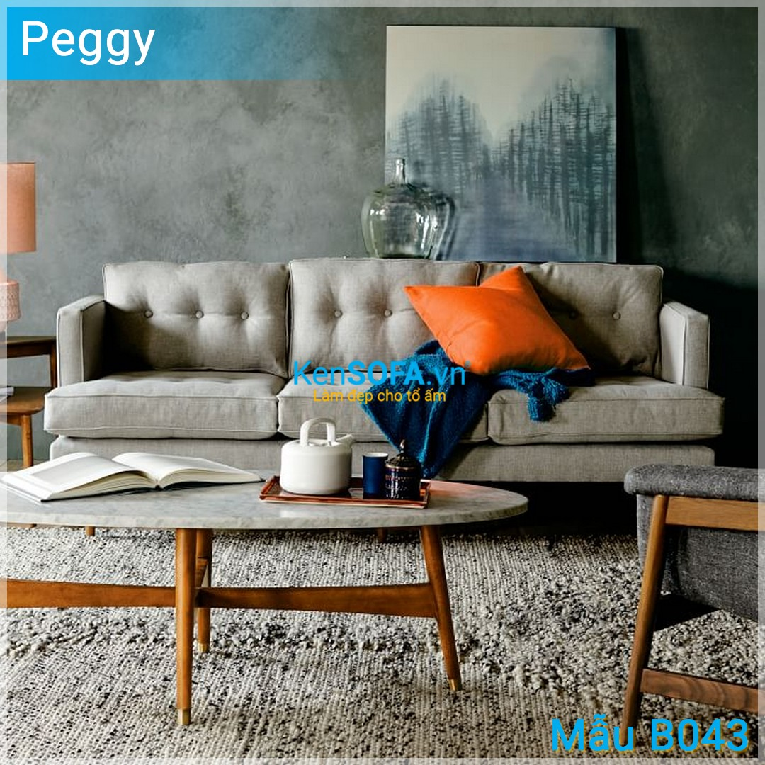 Sofa băng B043 Peggy 3 chỗ