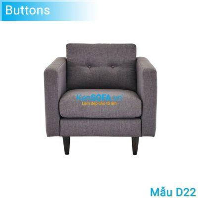 Sofa đơn D22 Buttons