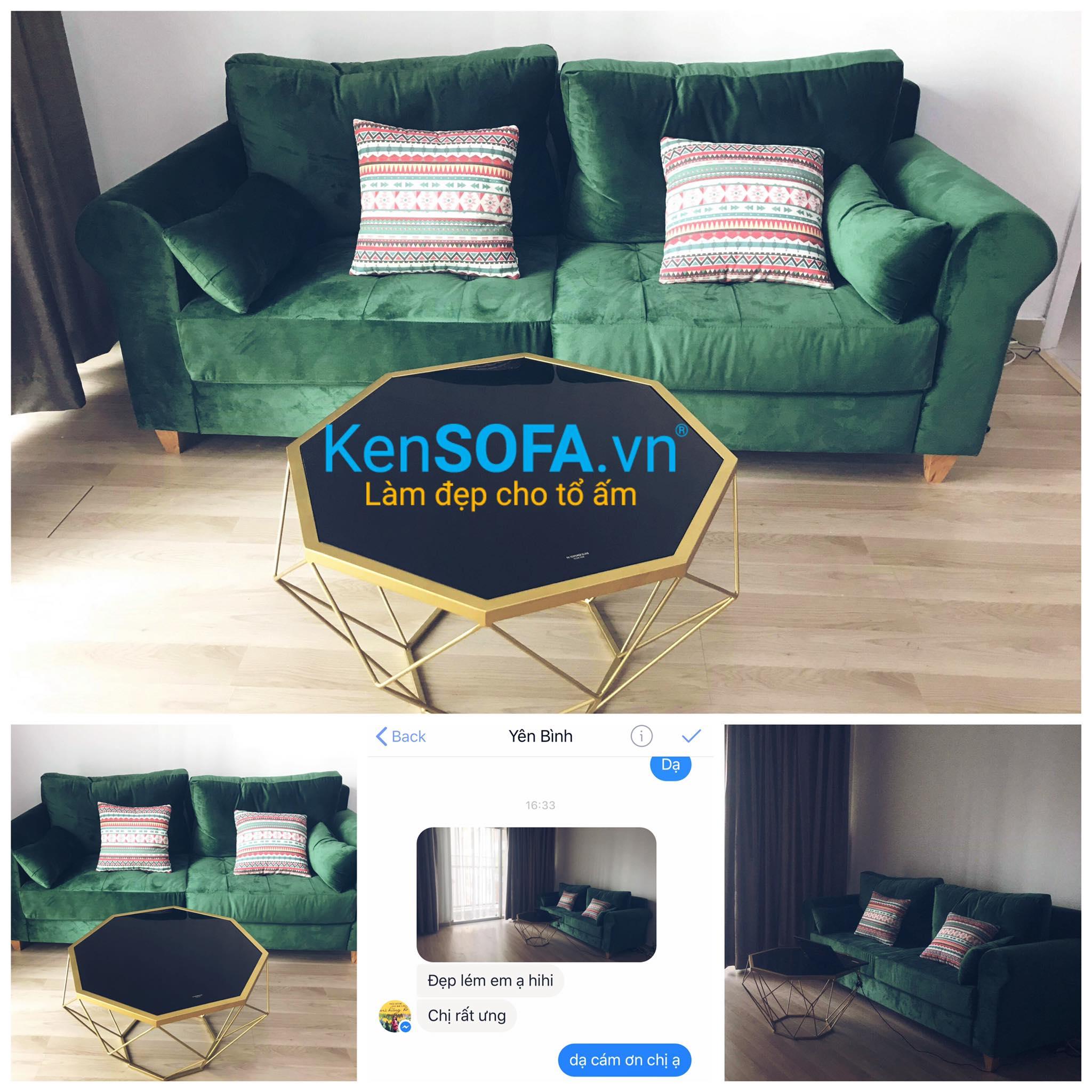 Sofa mini và bàn trà KenSOFA
