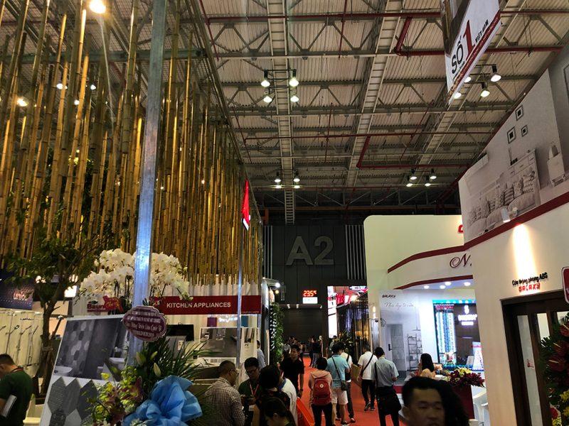 Một gian hàngtại triển lãm VietBuild 2019 lần thứ 3 tại TPHCM