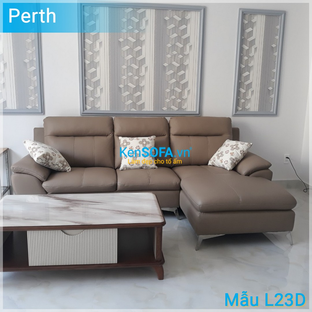 Sofa góc cao cấp L23D Perth da
