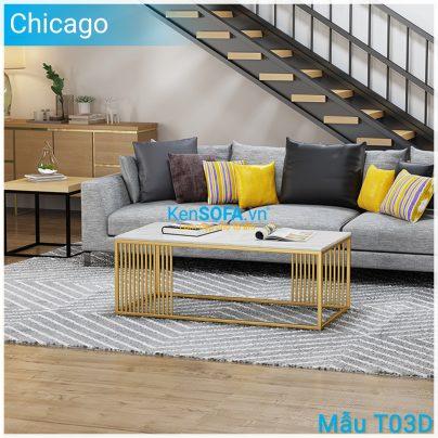 Bàn sofa T03D Chicago mặt đá
