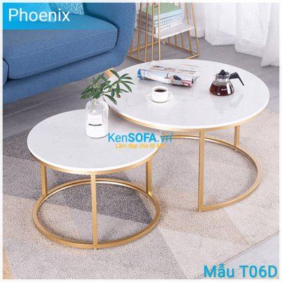 Bàn sofa T06D mặt đá - Phoenix
