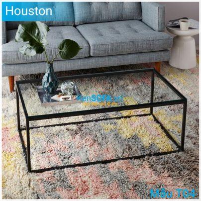 Bàn sofa T04 Houston mặt kiếng
