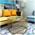 Bàn sofa T20 Baltimore mặt kiếng