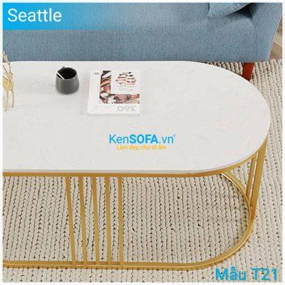 Bàn sofa T21 Seattle mặt đá