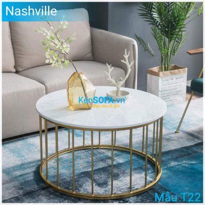 Bàn sofa T22 Nashville mặt đá