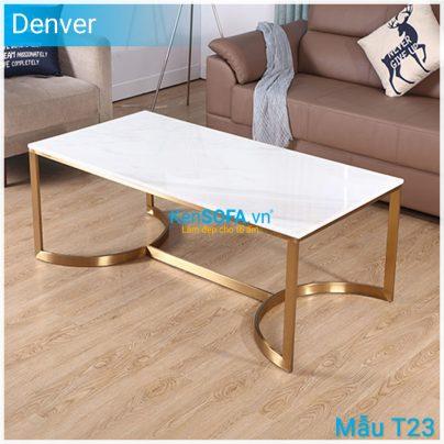 Bàn sofa T23 Denver mặt đá