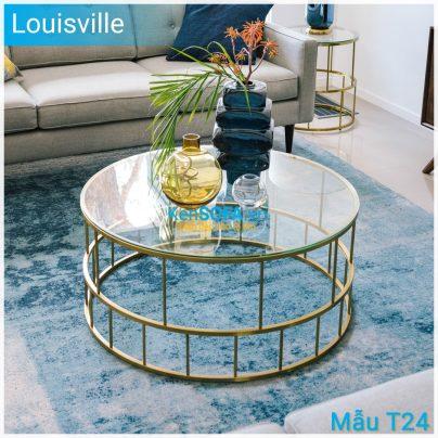 Bàn sofa T24 Louisville mặt kiếng