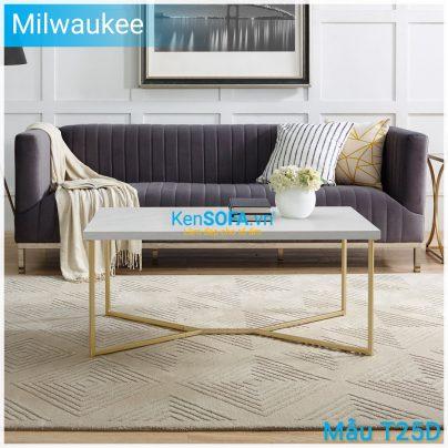 Bàn sofa T25D Milwaukee mặt đá