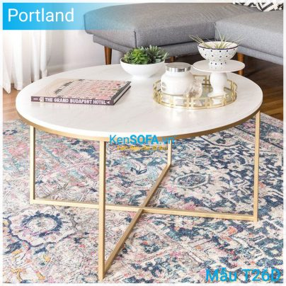 Bàn sofa T26D Portland mặt đá