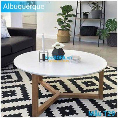 Bàn sofa T29 Albuquerque mặt gỗ
