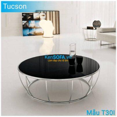 Bàn sofa T30I Tucson INOX mặt kiếng