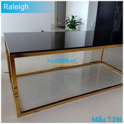 Bàn sofa T39I Raleigh GOLD INOX mặt kiếng
