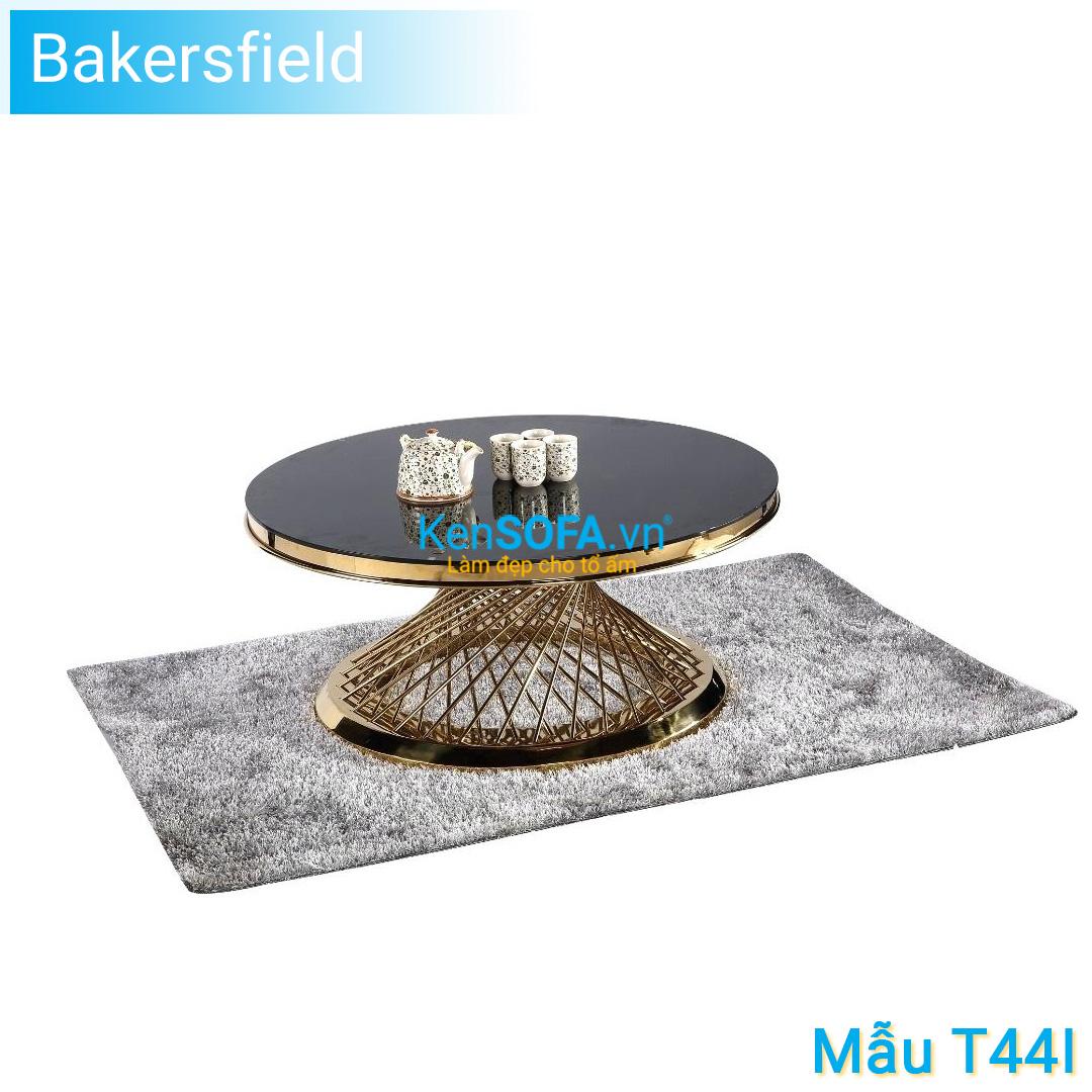 Bàn sofa T44I Bakersfield GOLD INOX mặt kiếng