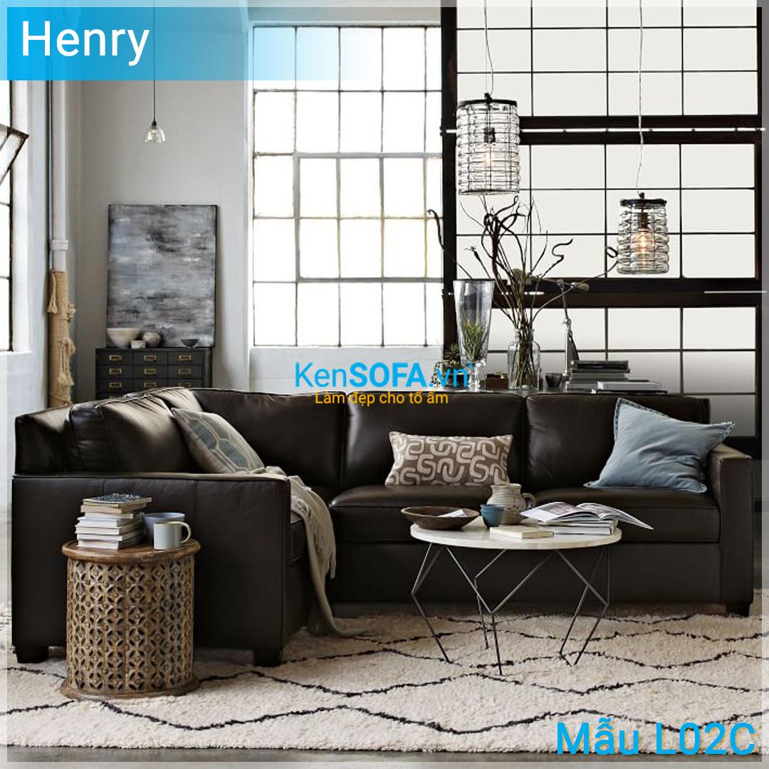 Sofa góc L02C Henry 3 chỗ