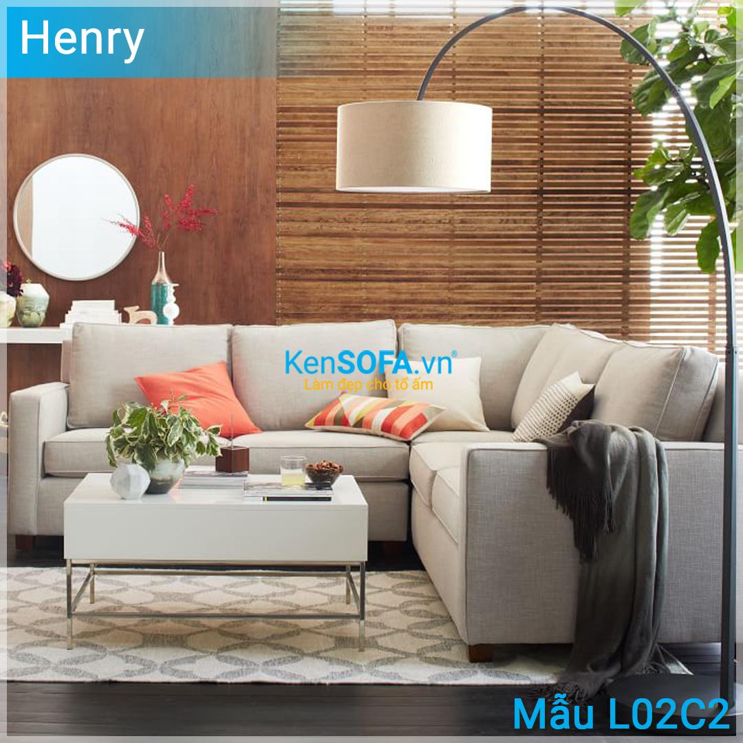 Sofa góc L02C2 Henry 4 chỗ