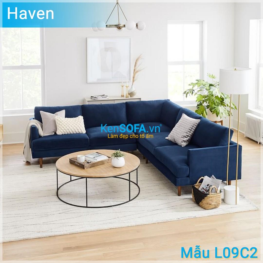 Sofa góc L09C2 Haven 4 chỗ