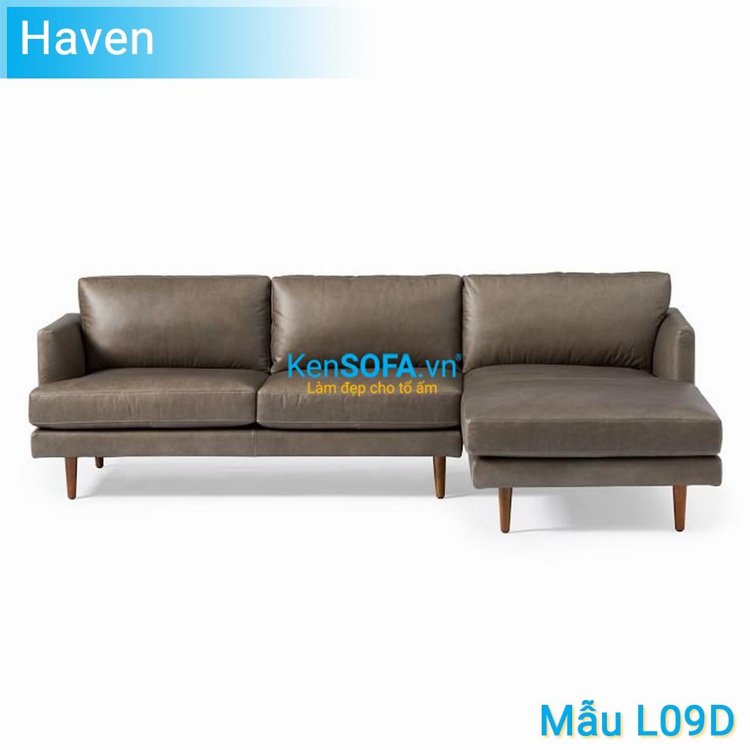 Sofa góc L09D Haven da