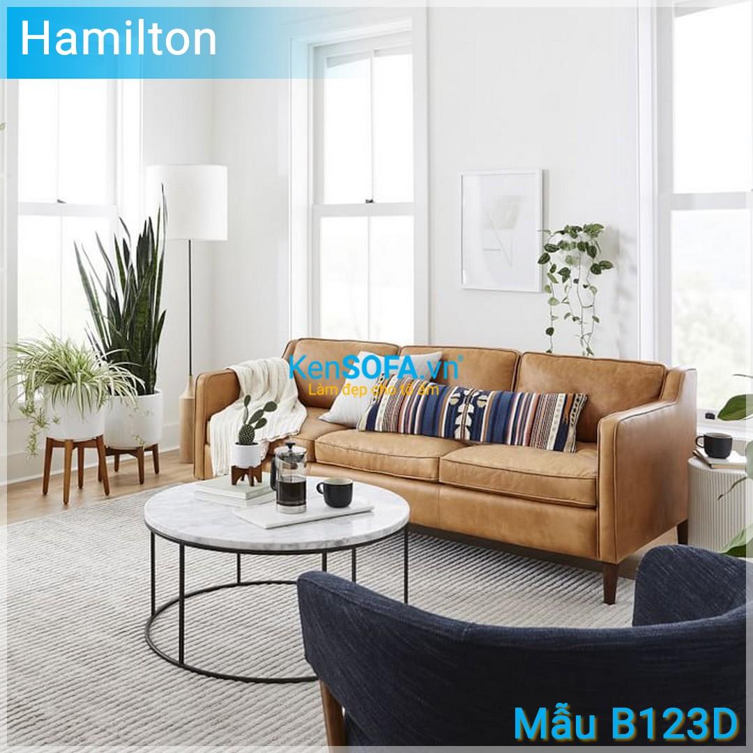 Sofa băng B123D Hamilton 3 chỗ da
