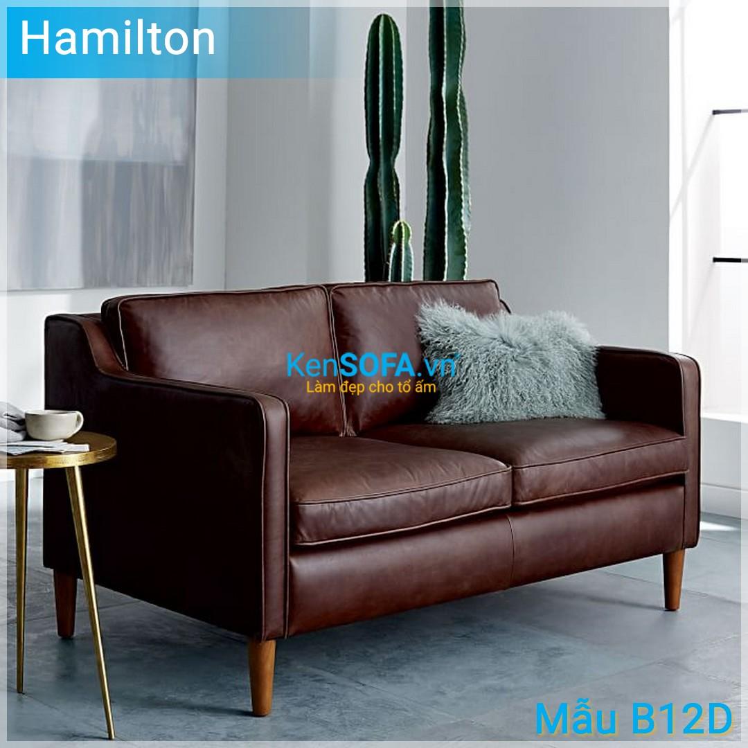 Sofa băng B12D Hamilton da