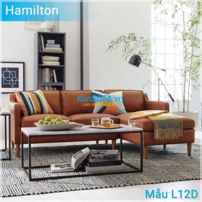 Sofa góc L12D Hamilton da