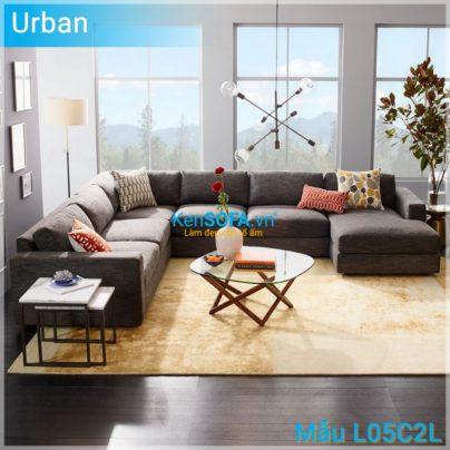 Sofa góc L05C2L Urban 4 chỗ ngồi 1 góc nghỉ