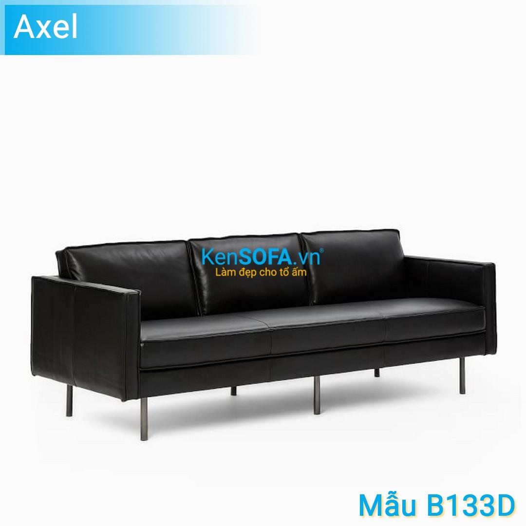 Sofa băng B133D Axel 3 chỗ da