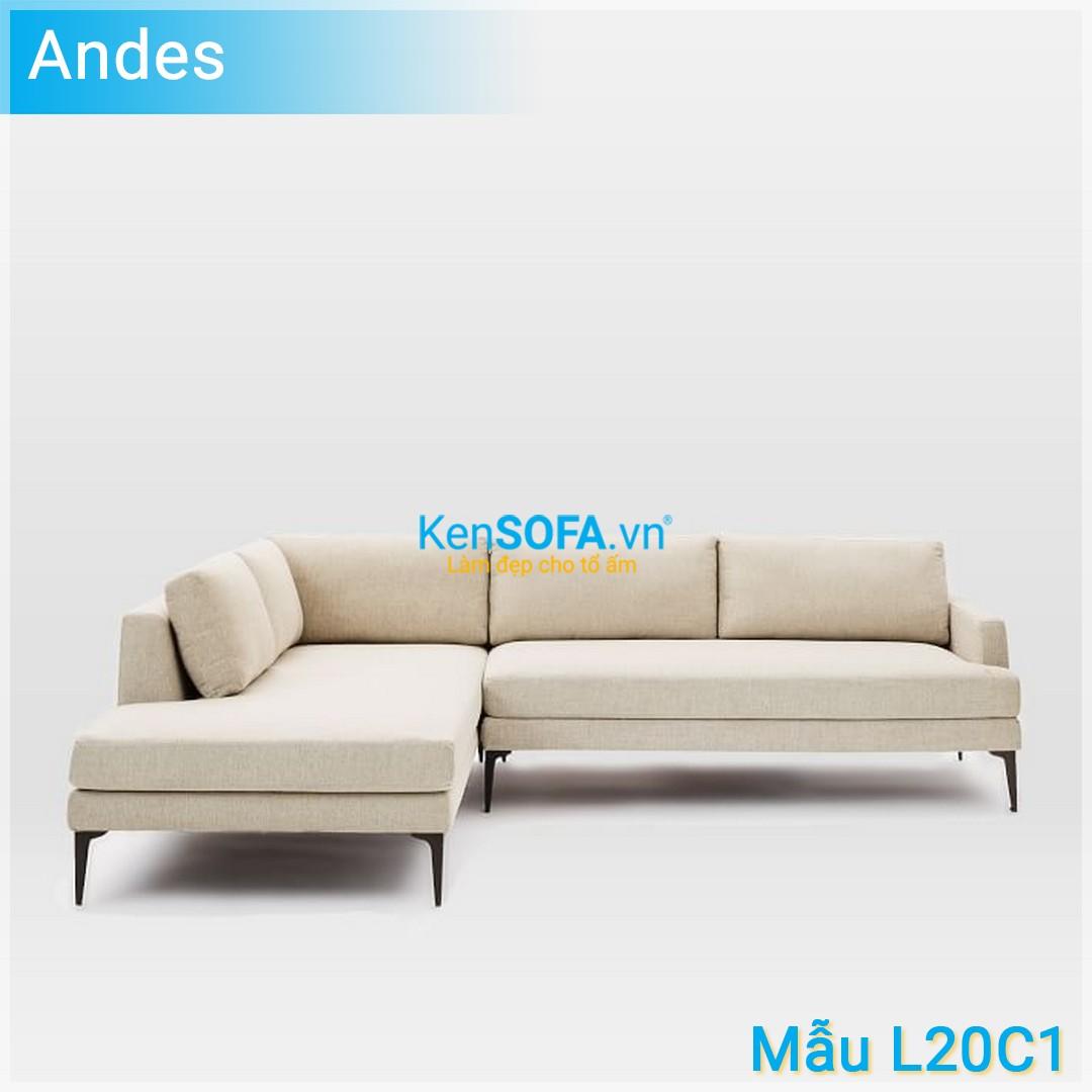 Sofa góc L20C1 Andes 3 chỗ
