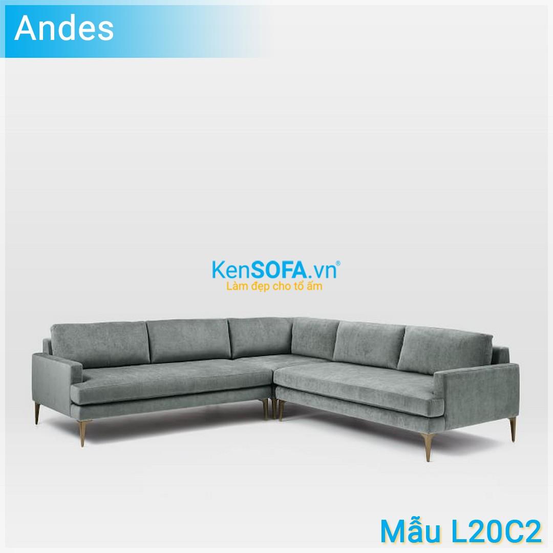 Sofa góc L20C2 Andes 4 chỗ