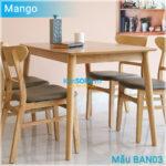 Bàn ăn BAN03 Mango màu gỗ tự nhiên