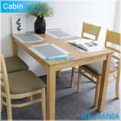 Bàn ăn BAN04 Cabin màu gỗ tự nhiên