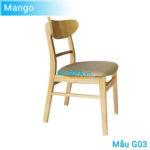 Ghế ăn G03 Mango màu gỗ tự nhiên